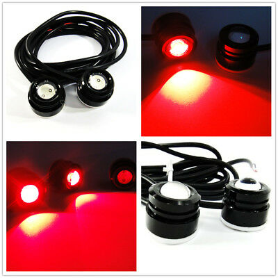 Super Bright Red High Power Eagle Eye Fog Light Fit For Universal Car/&motorcycle