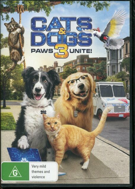 Cats & Dogs 3 Paws Unite DVD NEW Region 4