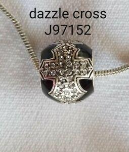 Brighton-Dazzle-Cross-Swarovski-black-bead-J97152-new-B323