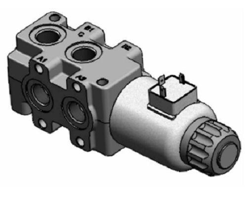 """Déviateur de débit 6 voies distributeur hydrauliqiue 6//2 3//8/"""" 50 L//min 250 B 12V"""