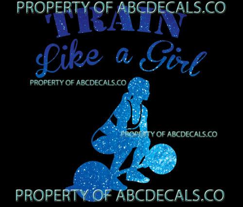 VRS TRAIN LIKE A GIRL Cross fit Weight Lift Deadlift Gym CAR DECAL METAL STICKER