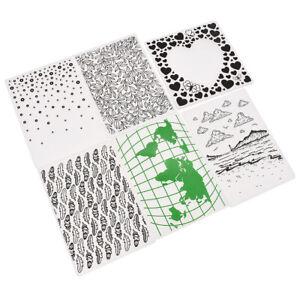 Kunststoff-Praegefolder-Schablone-Vorlage-DIY-Karten-Einklebebuch-Crafts-Supplies