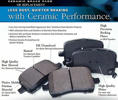 Ultra-Premium Ceramic Brake Pads Front+Rear(Fit:Mercedes-Benz CL550 AMG 10-14 )