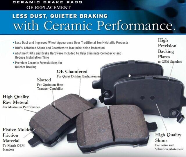 Ultra-Premium Ceramic Brake Pads Rear(Fits:Saab 9-5 2.3t 09-06, 01-00)
