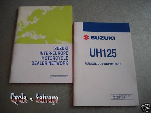 Suzuki Uh 125 _ Manuel Du Proprietaire _ Conducente _ Manuale-ahrer_handbuch Garanzia Al 100%