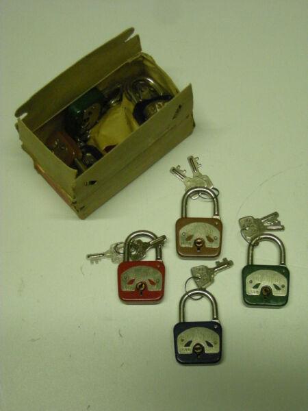 Originale S005a Elzett Cato Old Antique Original Vintage Lock Pad Padlock
