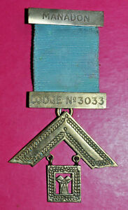Masonic Past Master's Jewel Manadon Lodge No 3033