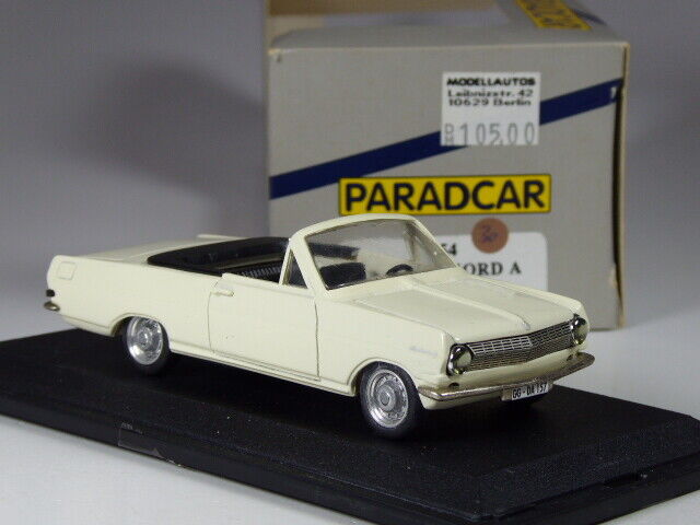 (KI-05-20) PARADCAR France Opel REKORD A CABRIOLET WHITE in 1 43 BNIB