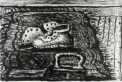 """PHILIP GUSTON Signed Original 1980 Lithograph - """"Rug"""", Published by Gemini GEL"""