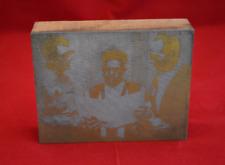 Vintage Three Pastors Copper Printing Press Photo Wood Block