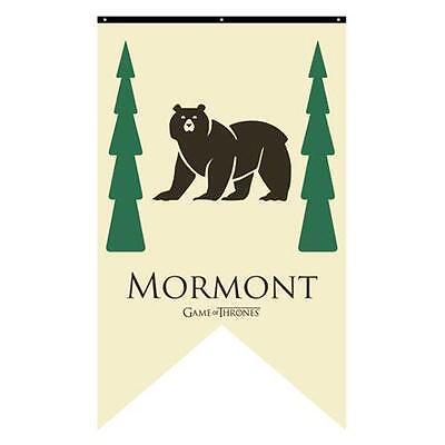 "HBO Game of Thrones XL 50"" LICENSED House MORMONT Bear Sigil Banner FLAG ASOIAF"