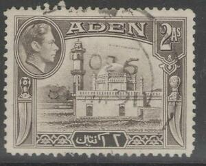 Stamps British Colonies & Territories Aden Gv1 1939 2a Sepia Sg 20 H.mint