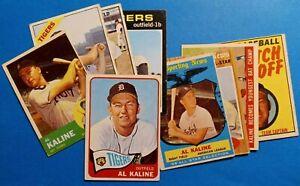 Vintage 1959-1971 Topps Old Baseball Cards 9card HOF Kaline Detroit Tigers Lot