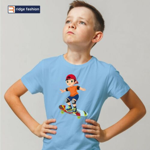 Birthday Gift, Young Boy 100/% Cotton short sleeve Summer T-Shirt Skateboard