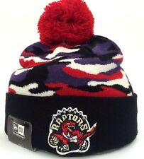 New Era NBA Toronto Raptors Camo Captive Knit Winter Beanie Toque Pom Hat Cap