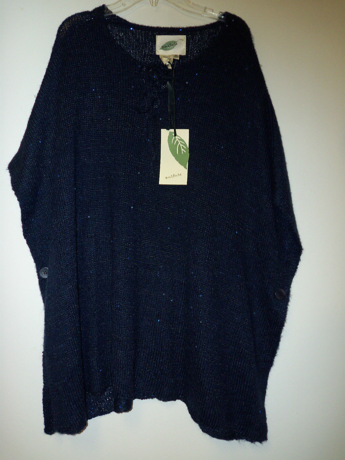 Nurture New Womens Monte Carlo Twilight Poncho Sweater Medium