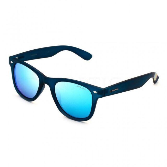 OCCHIALI DA SOLE POLAROID POLARIZZATI lenti specchio blu 100% UV uomo donna