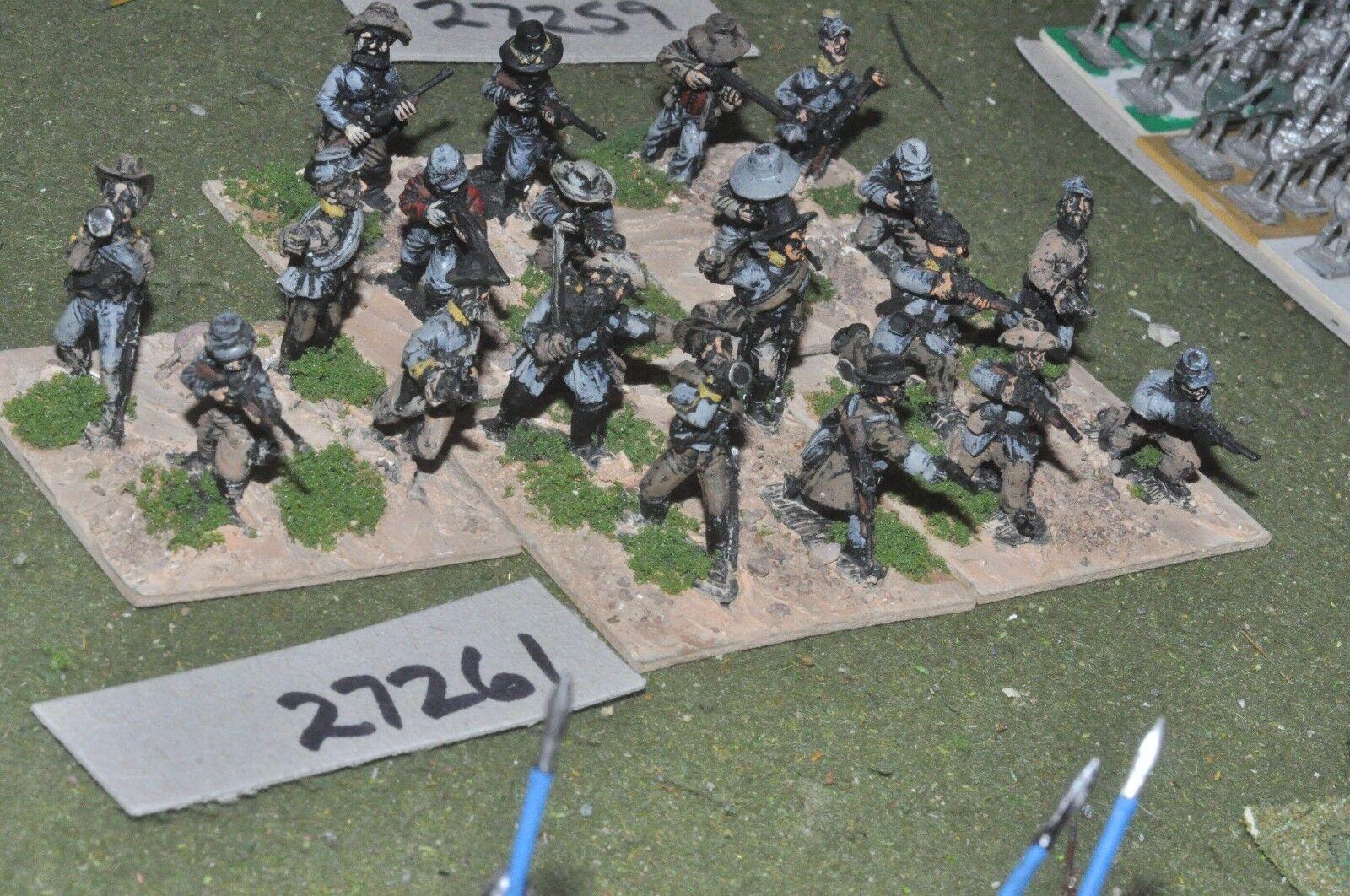 25mm ACW   confederate - regiment 20 figures - inf (27261)