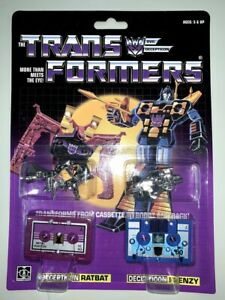 Transformers-G1-Decepticons-cassette-ratbat-frenzy-reissue-brand-new-Gift