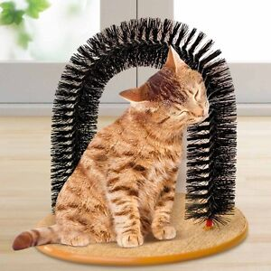 Brush-Massager-Arc-Arched-Scratching-Cats-Cat-with-Base-Scratcher