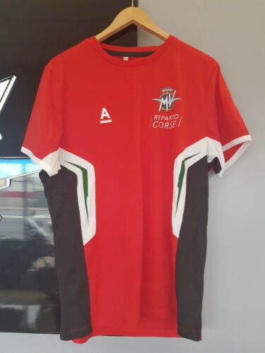 2018 MV Agusta Reparto Corse Audes T Shirt Tri Colour Red Mens Size Large