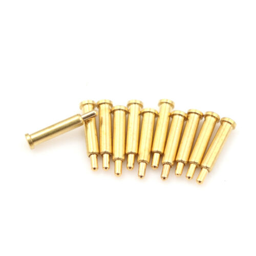 10pcs Goldplated Spherical Tipped Spring Loaded Probes Testing Pins fashion nJO