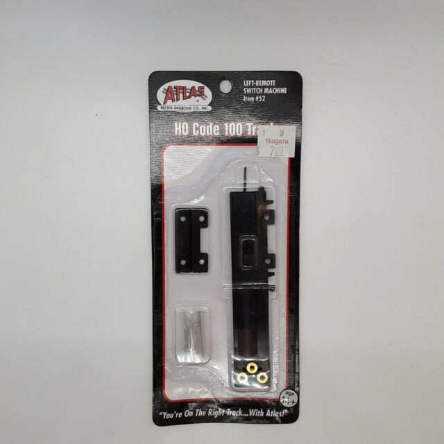 Atlas Left-Remote Switch Machine Item #52 HO Code 100 Track - Brand New Unopene