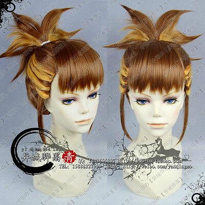 Digimon Makino Stay Kyi Brown Blonde Two Color Gradual Change Modeling Wig