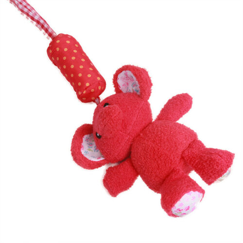 Infants Rattle Toy Red Elephant Pattern Grab Hand Stroller Soft Hanging Toys 6A