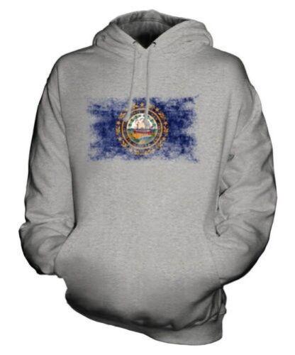 State Nuovo Bandiera Felpa Effetto Hampshire Maglia Unisex Consumato 771nxFw