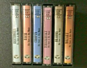 VTG-Allegro-Music-Masters-6-Cassette-Set-Mozart-Chopin-Beethoven-Brahms-Bach-Tch