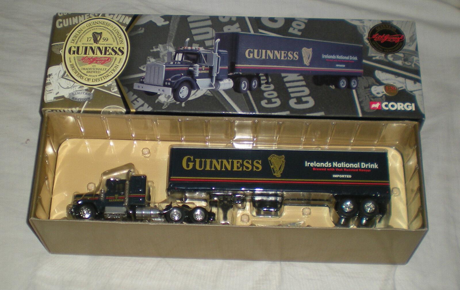 Corgi 55801-Guinness Kenworth T925 con Remolque Caja Semi (N0.194 0F 3200) Raras