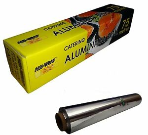 2 Aluminium KITCHEN / CATERING FOIL 300mmx75m-12'' food
