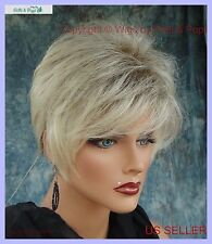 Synthetic Short Hair Wig for Women  COLOR PALE CEDAR ROOTED BLOND CUTE STYLE 347