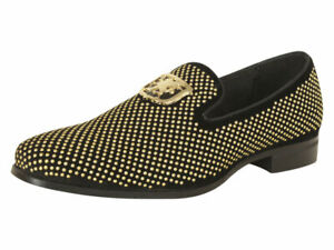 Stacy Adams Men's Swagger Black/Gold