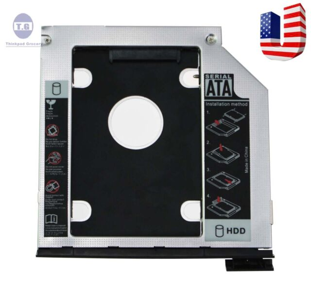 """2nd 2.5/"""" HDD SSD SATA Hard Drive Caddy Adapter for Dell Latitude 3340 3440 3540"""