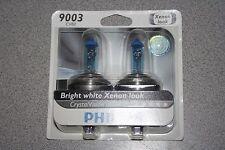 Philips Crystal Vision Pair of Headlight Bulbs 9003 CVB2 Xenon Look H4 NEW