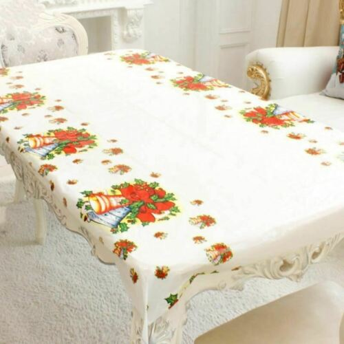 180CM Christmas Tablecloth One-time antepen Party Table Covers New Year Home Kit
