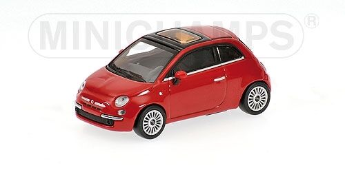 Fiat 500 Red 2007 1:64 Model MINICHAMPS