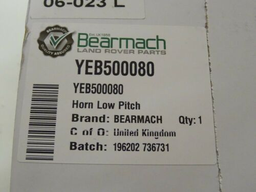 Land Rover Discovery 3 Range Rover Sport New Bearmach Low Pitched Horn YEB500080