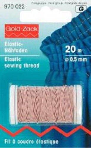 Prym Elastic-Nähfaden 0,5 mm sable 20 m-rôle 970022 GP 0,15 €//M