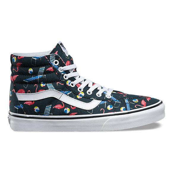 Vans Sk8 Hi Skate piscina Vibes hombre 11 Zapatos de Skate Hi Skater Rosa Flamingo Nuevo Negro 04f323