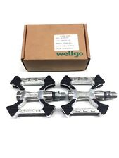 """WELLGO BICYCLE Bike Cycling PEDALS 9//16/"""" ALLOY KRATON TOP CRUISER BMX"""