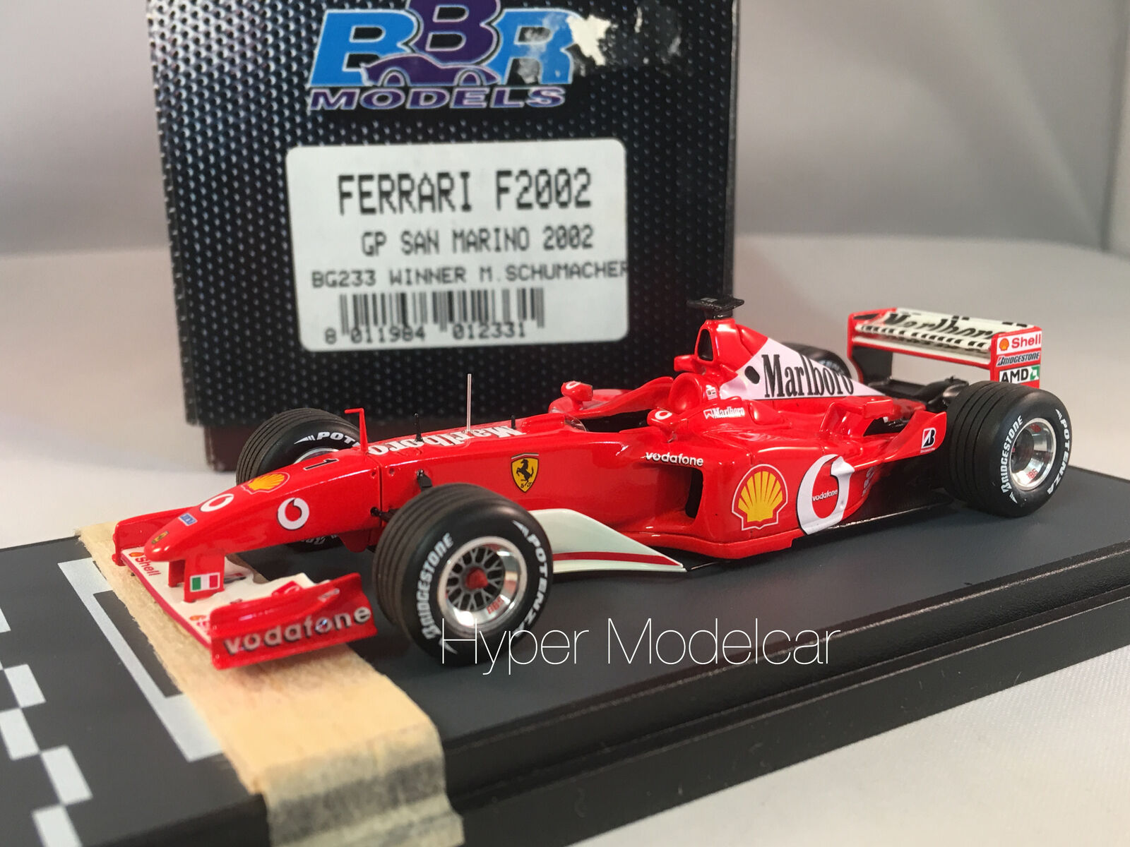 BBR Models 1 43 f1 Ferrari f2002 GP SAN MARINO 2002 WINNER M. SCHUMACHER Article