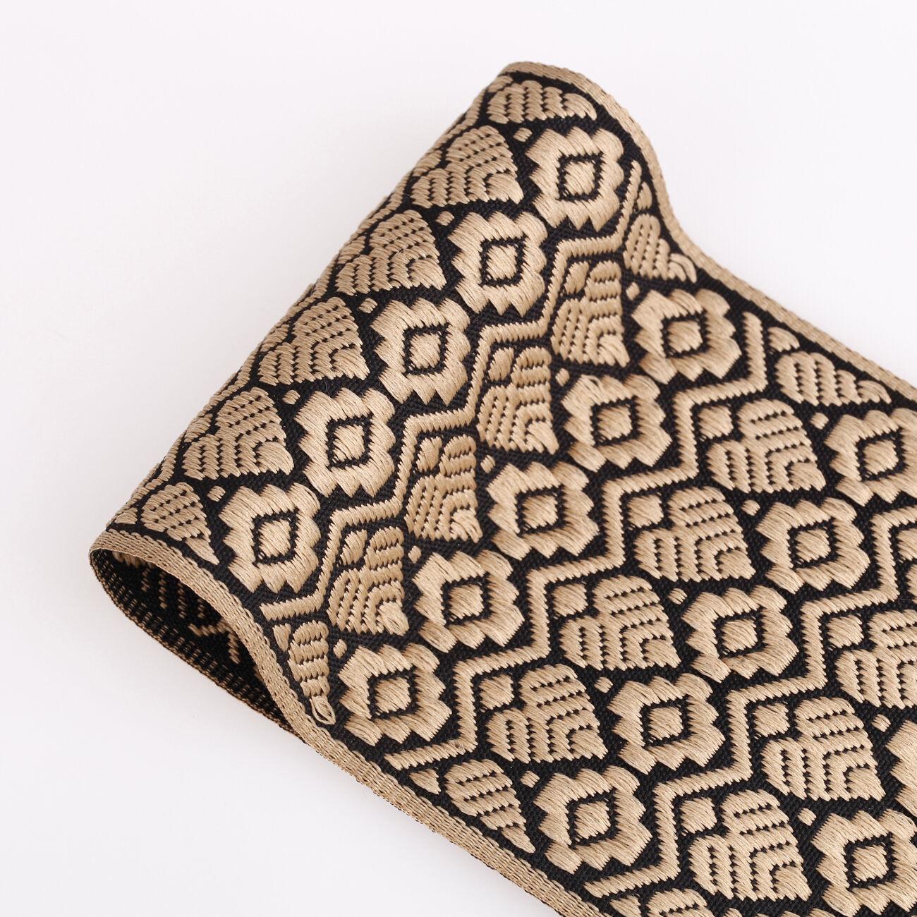 4 cm Tan Gold Paisley cristal brodé ruban Applique Passementerie Décor Indien