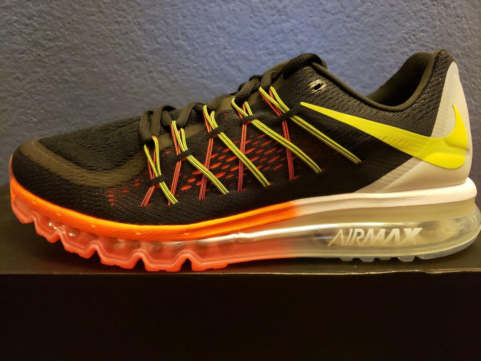 Nike Air Max  Running Sneakers New, Black Volt 698902-007 SKU AA