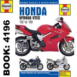 Honda-VFR800-V-Tec-V-Fours-2002-09-Haynes-Workshop-Manual