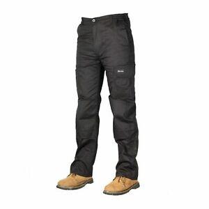 Para-Hombre-De-Carga-Combate-Pantalones-De-Trabajo-Talla-30-a-48-Negro-Cargo-Pantalones-De-Trabajo