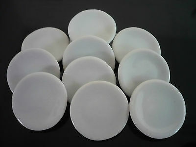 10x25mm Ceramic Round Dish Plates Dollhouse Miniatures Food Supply Wholesale lot