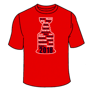 Washington 2018 Stanley Cup Champions Jersey Tees Capitals Championship T-Shirt